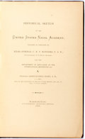 Books:Americana & American History, James Russell Soley. Historical Sketch of the United StatesNaval Academy. Government Printing Office, 1876. Fir...