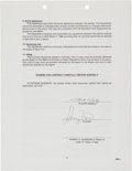 Basketball Collectibles:Others, 1988 Larry Bird Signed NBPA Contract....