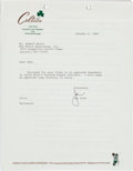 Basketball Collectibles:Others, 1989 Larry Bird Signed Amendment to Uniform Player's Contract....
