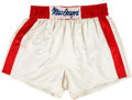 Boxing Collectibles:Memorabilia, Early 1980's Muhammad Ali Training Worn & Signed Trunks from Angelo Dundee Collection....