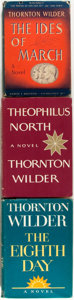 Books:Literature 1900-up, Thornton Wilder. Three First Edition Novels by Thornton Wilder including: The Ides of March. Harper & Brothers P... (Total: 3 Items)