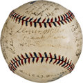 Autographs:Baseballs, 1919 New York Yankees Team Signed Baseball from PeckinpaughEstate--Earliest Known Yankees Team Ball!...