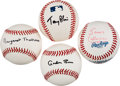 Autographs:Baseballs, 2000's-2010's Margaret Thatcher, Tony Blair & Others British Prime Minister Single Signed Baseballs Lot of 4....