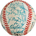 Baseball Collectibles:Balls, 1980's New York Mets Greats Multi Signed Baseball (Reunion)....