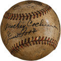 Autographs:Baseballs, Circa 1929 Al Simmons, Lefty Grove, George Sisler, Jimmie Foxx& Mickey Cochrane Multi Signed Baseball....