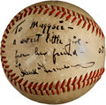 Autographs:Baseballs, 1946 Hank Greenberg Single Signed Baseball....
