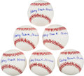 Autographs:Baseballs, 2000's Stanley Frank Musial Single Signed Baseballs Lot of 6....
