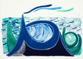 Prints:Contemporary, DAVID HOCKNEY (British, b. 1937). The Wave, A Lithograph,1990. Lithograph in colors. 24-3/8 x 37-3/4 inches (62.0 x 96....