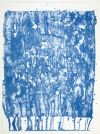 SAM FRANCIS (American, 1923-1994) Untitled (from the Papierski Portfolio), 1992 Lithograp