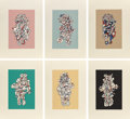 Prints:Contemporary, JEAN DUBUFFET (French, 1901-1985). Presences Fugaces (sixworks), 1973. Screenprint in colors. Each 30 x 22 inches (76.2...(Total: 7 Items)