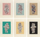 JEAN DUBUFFET (French, 1901-1985) Presences Fugaces (six works), 1973 Screenprint in colors Each 30 x 22 inches (76.2...