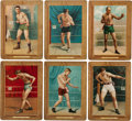 Boxing Cards:General, 1911 T9 Turkey Red Prizefighters Complete Set (23/26). ...