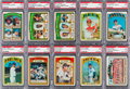 Baseball Cards:Lots, 1972 Topps Baseball #'s 1 - 99 PSA Mint 9 Collection (87). ...