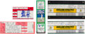 Autographs:Others, 1981-91 Nolan Ryan Signed No-Hitter & 5,000th Strikeout TicketsLot of 7....