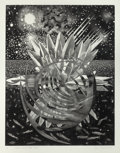 Post-War & Contemporary:Pop, JAMES ROSENQUIST (American, b. 1933). Welcome to the WaterPlanet, 1987. Aquatint on TH Saunders paper, in two pieces.6...