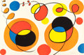 Prints:Contemporary, ALEXANDER CALDER (American, 1898-1976). Loops and Spheres,circa 1970. Lithograph in colors. 29-1/2 x 43 inches (74.9 x ...