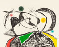 Prints:European Modern, JOAN MIRÓ (Spanish, 1893-1983). Mallorca III, 1973. Etchingand engraving in colors. 21-3/4 x 27-5/8 inches (55.1 x 70.1...