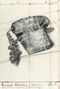 Prints:Contemporary, CHRISTO (American/Bulgarian, b. 1935). Wrapped Telephone (9664437), Project, 1988. Lithograph with collage of transpare...