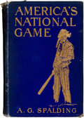 """Autographs:Others, 1911 Albert Spalding Signed """"America's National Game"""" Book...."""
