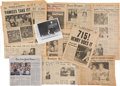 Baseball Collectibles:Others, 1908-2004 Baseball Perfect Game & Memorable Moments NewspaperCollection - Mostly Newspaper Editions With Cy Young. ...