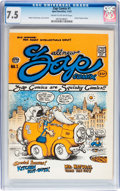 Silver Age (1956-1969):Alternative/Underground, Zap Comix #1 First Printing - Plymell Edition (Apex Novelties, 1968) CGC VF- 7.5 Cream to off-white pages....