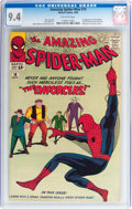 Silver Age (1956-1969):Superhero, The Amazing Spider-Man #10 (Marvel, 1964) CGC NM 9.4 Off-white pages....