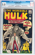 Silver Age (1956-1969):Superhero, The Incredible Hulk #1 (Marvel, 1962) CGC VG/FN 5.0 Off-white towhite pages....