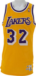 Basketball Collectibles:Uniforms, 1988-89 Magic Johnson Game Worn Los Angeles Lakers Jersey. ...