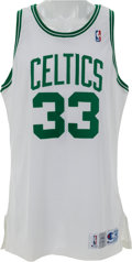 Basketball Collectibles:Uniforms, 1991-92 Larry Bird Game Worn Boston Celtics Jersey. ...