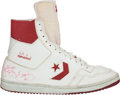 Basketball Collectibles:Others, Early 1980's Julius Erving Game Worn, Signed Shoe. ...