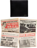 Football Collectibles:Photos, 1982 Bill Walsh Personal Photograph Album and Newspapers....