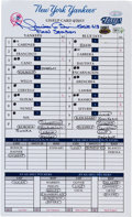 Baseball Collectibles:Others, 2013 Mariano Rivera Signed 613th Career Save New York Yankees Dugout Card....