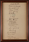 Autographs:Others, 1934 Tour of Japan Album with Team Signed Page from Eric McNairEstate, PSA Mint 9....