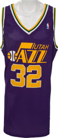 Basketball Collectibles:Uniforms, Late 1980's Karl Malone Authentic Utah Jazz Jersey....