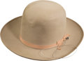 Baseball Collectibles:Others, 1951 Bob Muncrief New York Yankees World Series ChampionsPresentation Dobbs Cowboy Hat. ...