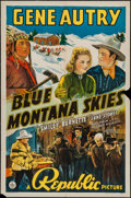 "Movie Posters:Western, Blue Montana Skies (Republic, R-1945). One Sheet (27"" X 41""). Western.. ..."