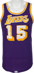Basketball Collectibles:Uniforms, 1977-78 Ernie DiGregorio Game Worn Los Angeles Lakers Jersey andShorts....