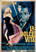 Prints:Contemporary, GEORGIO OLIVETTI (Italian, b. 1908). La Dolce Vita, 1959.Poster in colors. 76 x 54 inches (193.0 x 137.2 cm) sight. Pub...