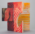 Post-War & Contemporary:Contemporary, SAM GILLIAM (American, b. 1933). Chinese, 1993. Acrylic onfabric mounted to hinged wood. 13 x 18-1/2 x 13 inches (33.0 ...