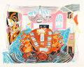 Prints:Contemporary, DAVID HOCKNEY (British, b. 1937). Tyler Dining Room (fromthe Moving Focus series), 1984. Lithograph in colors. 29x...