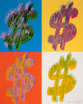 Prints, ANDY WARHOL (American, 1928-1987). $ (Quadrant), 1982. Screenprint in colors. 40 x 32 inches (101.6 x 81.3 cm) sheet. Ed...