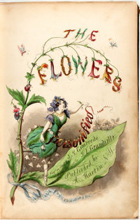 "Nehemiah Cleaveland, translator. The Flowers Personified; Being a Translation of Grandville's ""Les Fleurs Anim&eacu..."