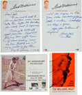 Autographs:Others, 1960-90 Ted Williams Signed Photograph & Letter Lot of 5....