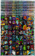 Memorabilia:Trading Cards, Silver Surfer Foil Trading Cards Uncut Sheet (Comic Images,1992).... (Total: 10 Items)