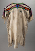American Indian Art:Beadwork and Quillwork, A PLATEAU GIRL'S BEADED HIDE DRESS. c. 1910. ...