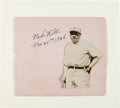 Autographs:Others, 1926 Babe Ruth Signed Album Page, PSA/DNA Mint 9....