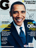 Miscellaneous Collectibles:General, 2007 President Barack Obama Signed GQ Magazine. ...