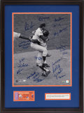 "Autographs:Others, 2009 ""1969 Miracle Mets"" Signed Photograph & Ticket Stub...."
