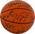 Basketball Collectibles:Balls, 1991 NBA All Star Team Signed Basketball - Sourced From NBA Employee. ...