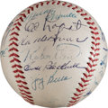 Baseball Collectibles:Balls, 1953 New York Yankees Team Signed Baseball, PSA/DNA NM/MT 8. ...